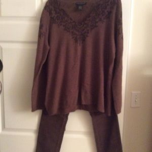 Brown sweater , sz XL